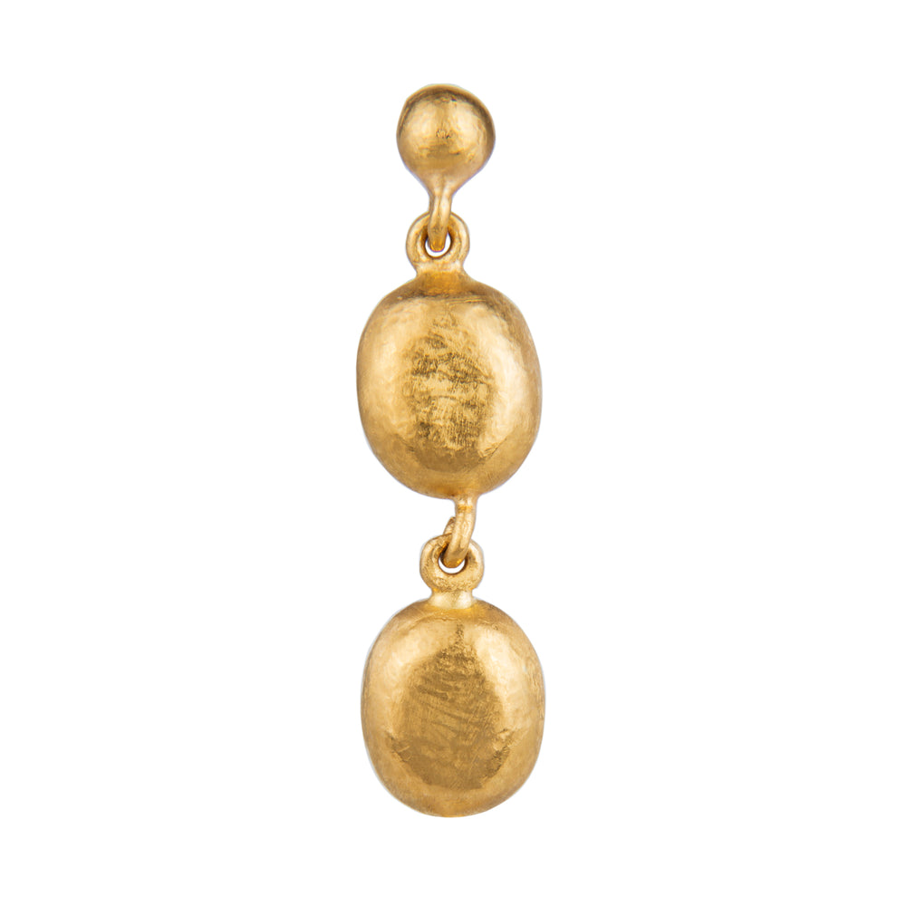 24K GOLD DOUBLE BEAD ROXANNE EARRINGS