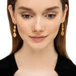 24K GOLD MELISSA TRIPLE DROP EARRINGS
