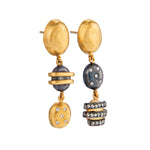 24K GOLD BEAD HELEN EARRINGS