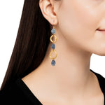24K GOLD & GILVER DIAMOND  MELISSA EARRINGS