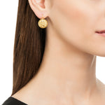 18K GOLD SMALL ROUND LACE EARRINGS