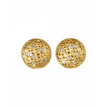 18K GOLD DIAMOND MINI LACE STUD EARRINGS