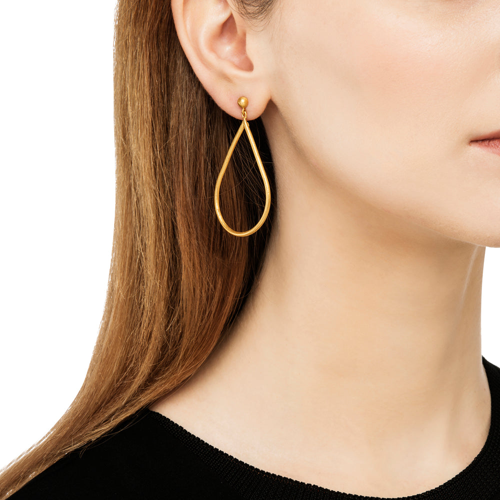 24K GOLD PEAR SHAPED JANE EARRINGS