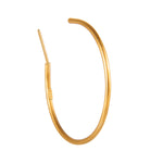 24K GOLD JANE HOOP EARRINGS