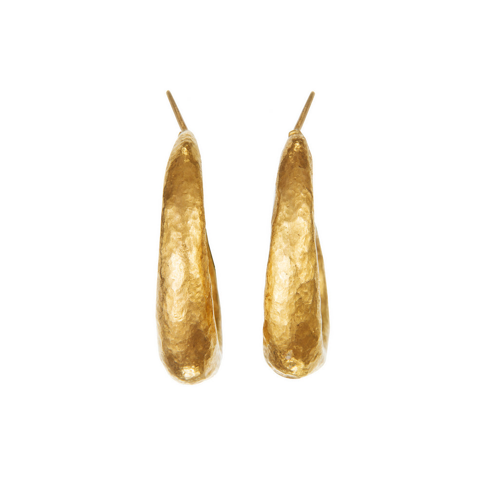 24K GOLD ROXANNE HOOP EARRINGS
