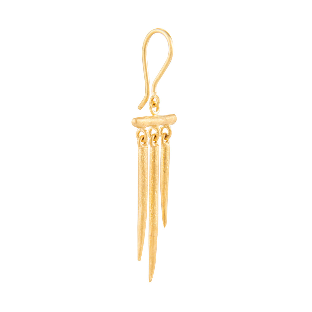 24K GOLD THREE BAR REYNA EARRINGS