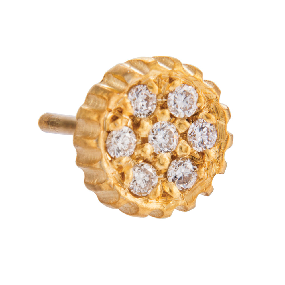 18K GOLD WHITE DIAMOND LILAH STUD EARRINGS