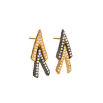 18K GOLD WHITE DIAMOND LILAH CHEVRON EARRINGS
