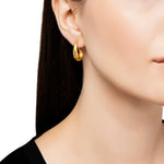 24K GOLD SMALL ROXANNE HOOP EARRINGS