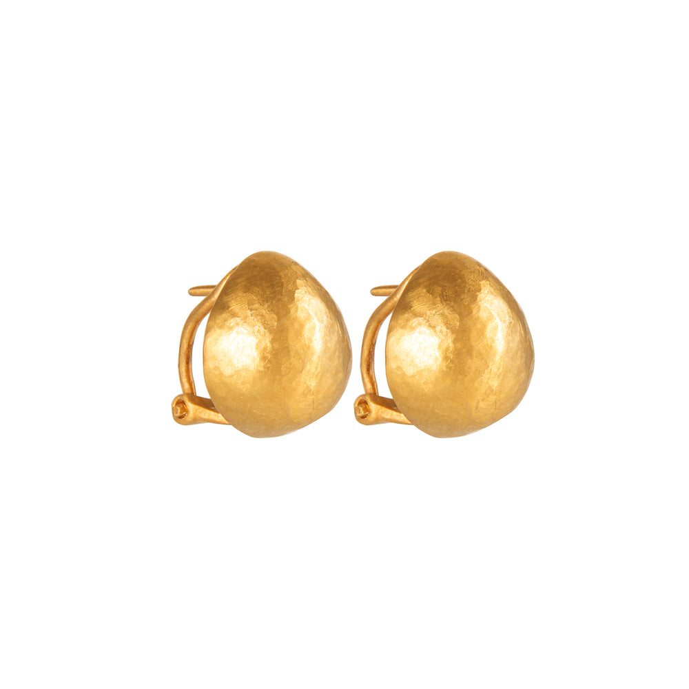 24K GOLD SMALL FRENCH CLIP ROXANNE EARRINGS