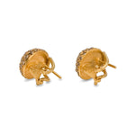 24K GOLD & COGNAC DIAMONDS FRENCH CLIP ROXANNE EARRINGS