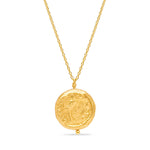 24K GOLD ROMAN FACE COIN NECKLACE