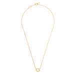 24K GOLD MELISSA DIAMOND NECKLACE