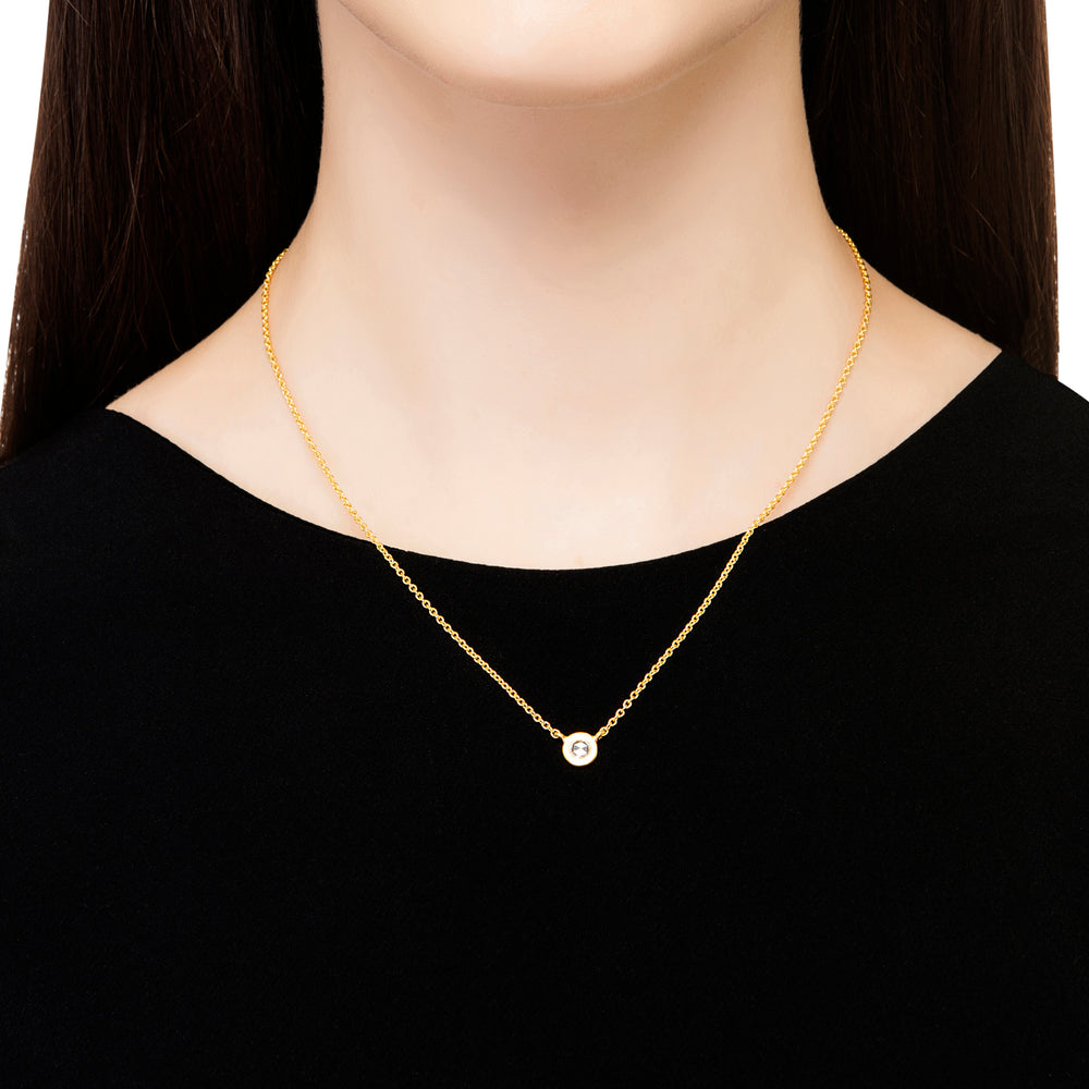 24K GOLD ROSE-CUT DIAMOND MICA NECKLACE