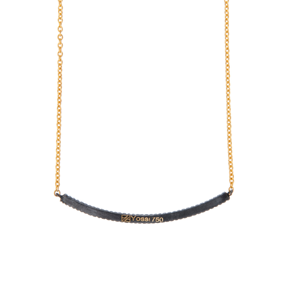 18K GOLD & OXIDIZED GILVER RUBY LILAH SMILE NECKLACE