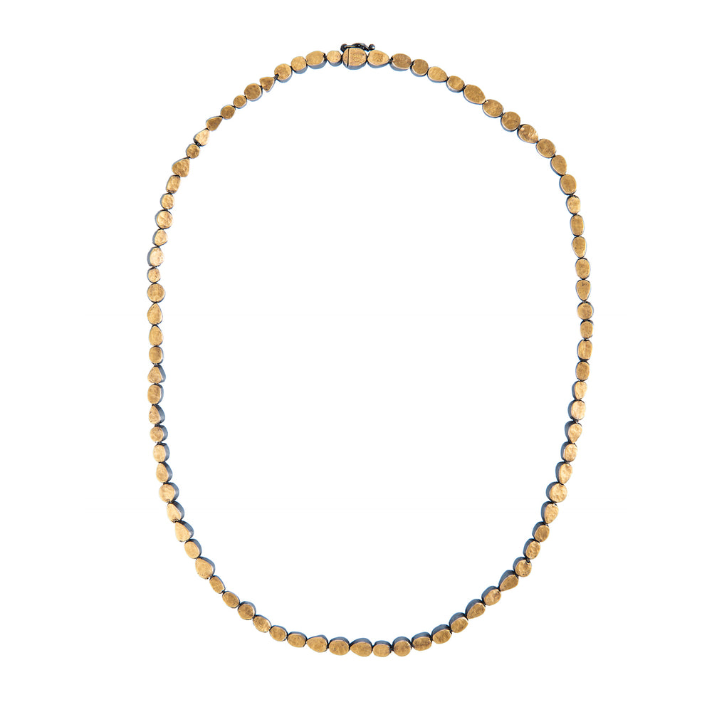 24K GOLD ROSE-CUT DIAMOND CASCADE NECKLACE