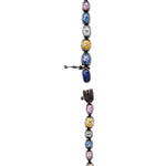 24K GOLD MULTI-COLOR SAPPHIRE CASCADE NECKLACE