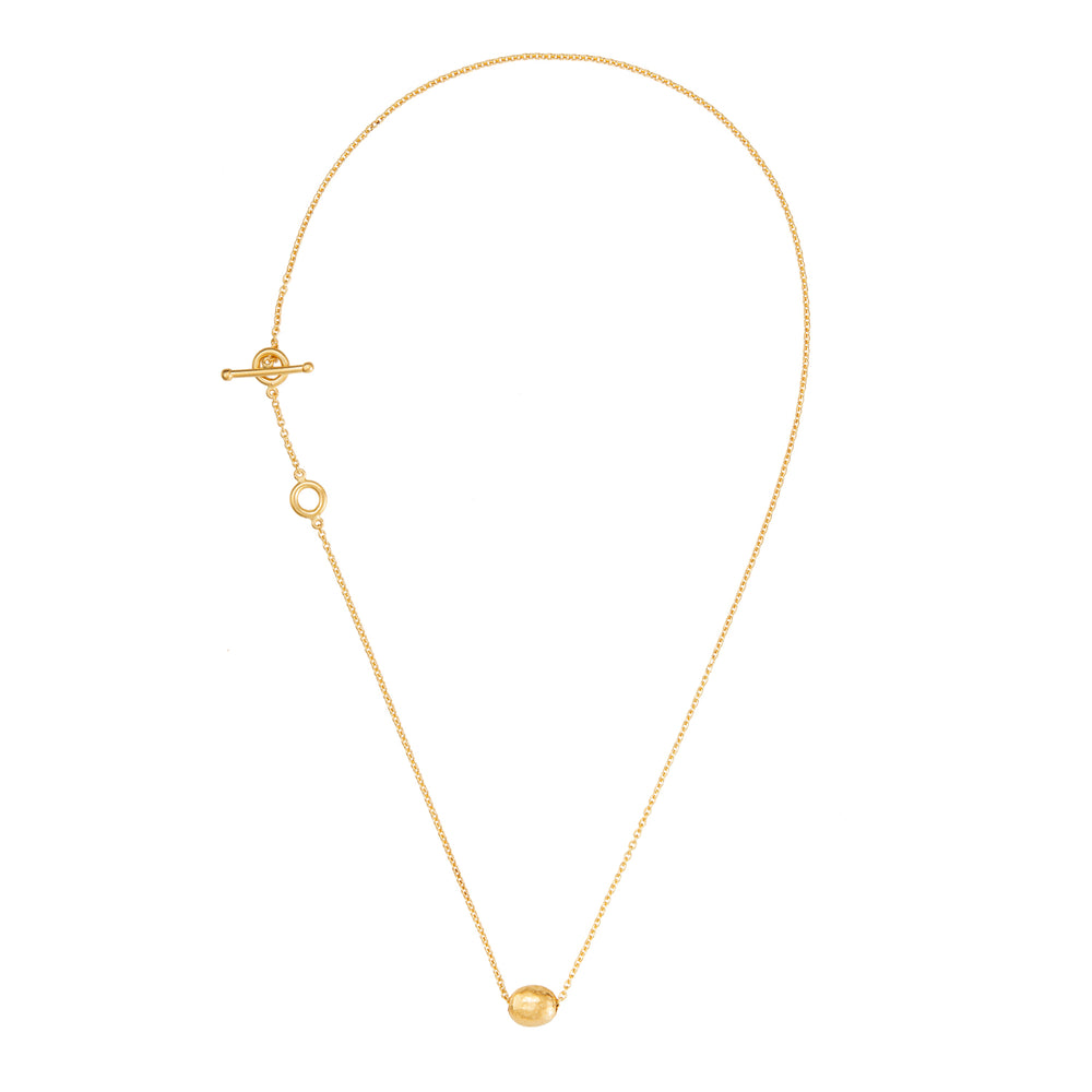 24K GOLD BEAD ROXANNE NECKLACE
