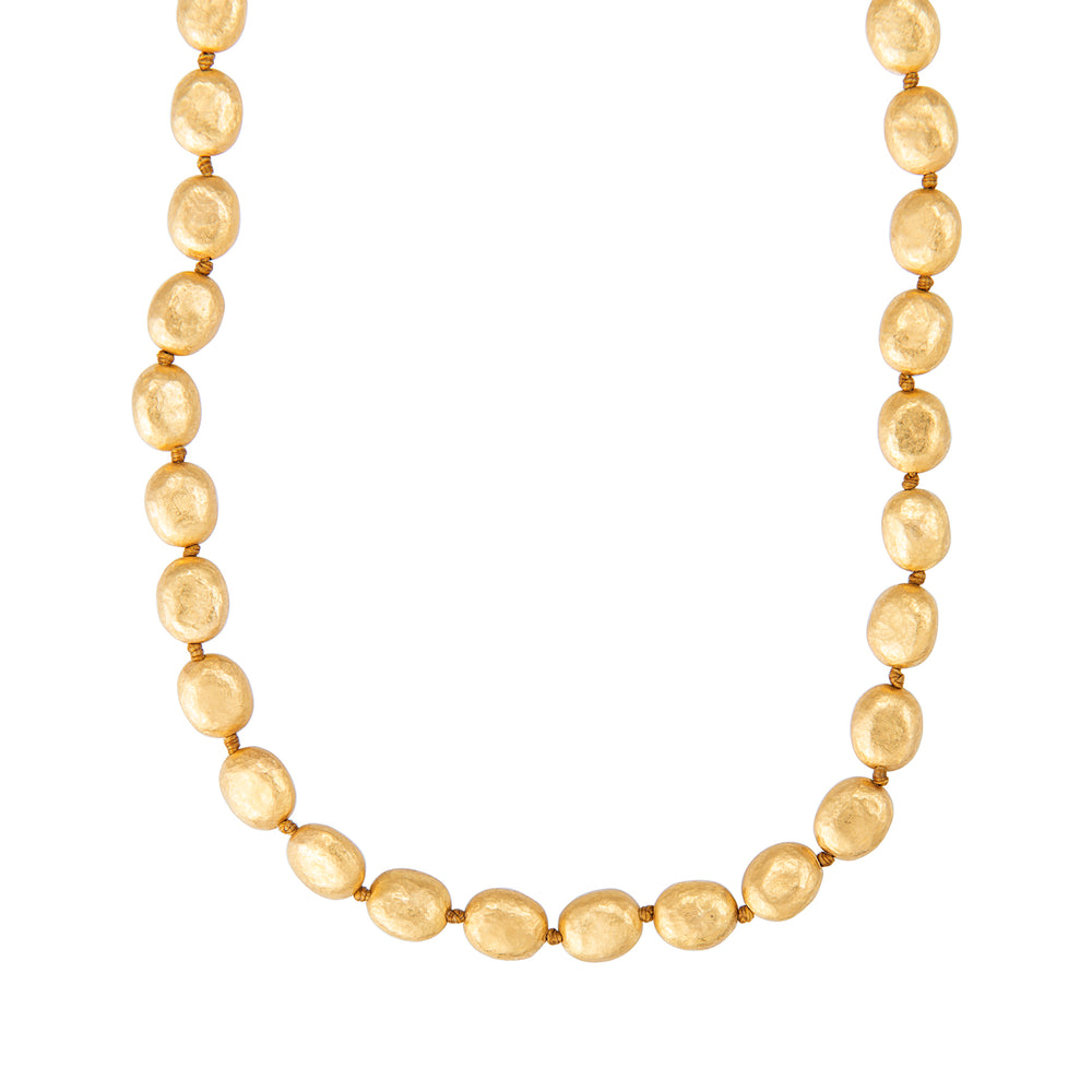 24K GOLD KNOTTED MINI ELEMENTS NECKLACE
