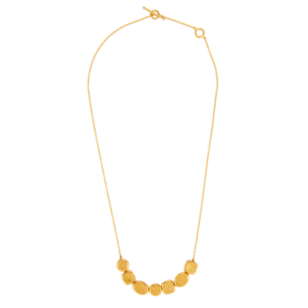24K GOLD NUGGETS ROXANNE NECKLACE