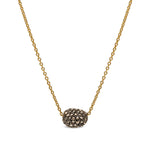 18K GOLD & DIAMONDS MINI PAVE ROXANNE NECKLACE
