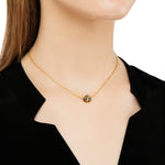 24K GOLD COGNAC DIAMOND SINGLE BEAD ROXANNE NECKLACE