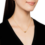 18K GOLD & COGNAC DIAMOND SINGLE BEAD HELEN NECKLACE