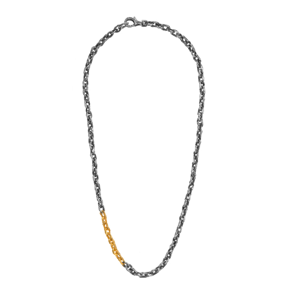 STERLING SILVER & 24K GOLD PLATED PUNTA GALERA SMALL SPACE NECKLACE