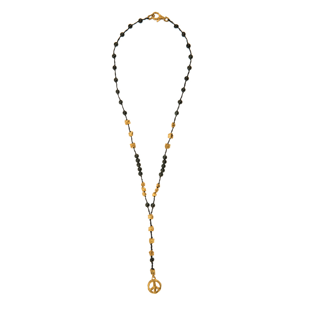 VERMEIL & FALCONITE PUNTA GALERA PEACE NECKLACE