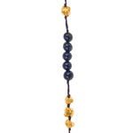 VERMEIL & LAPIS PUNTA GALERA STAR OF DAVID NECKLACE