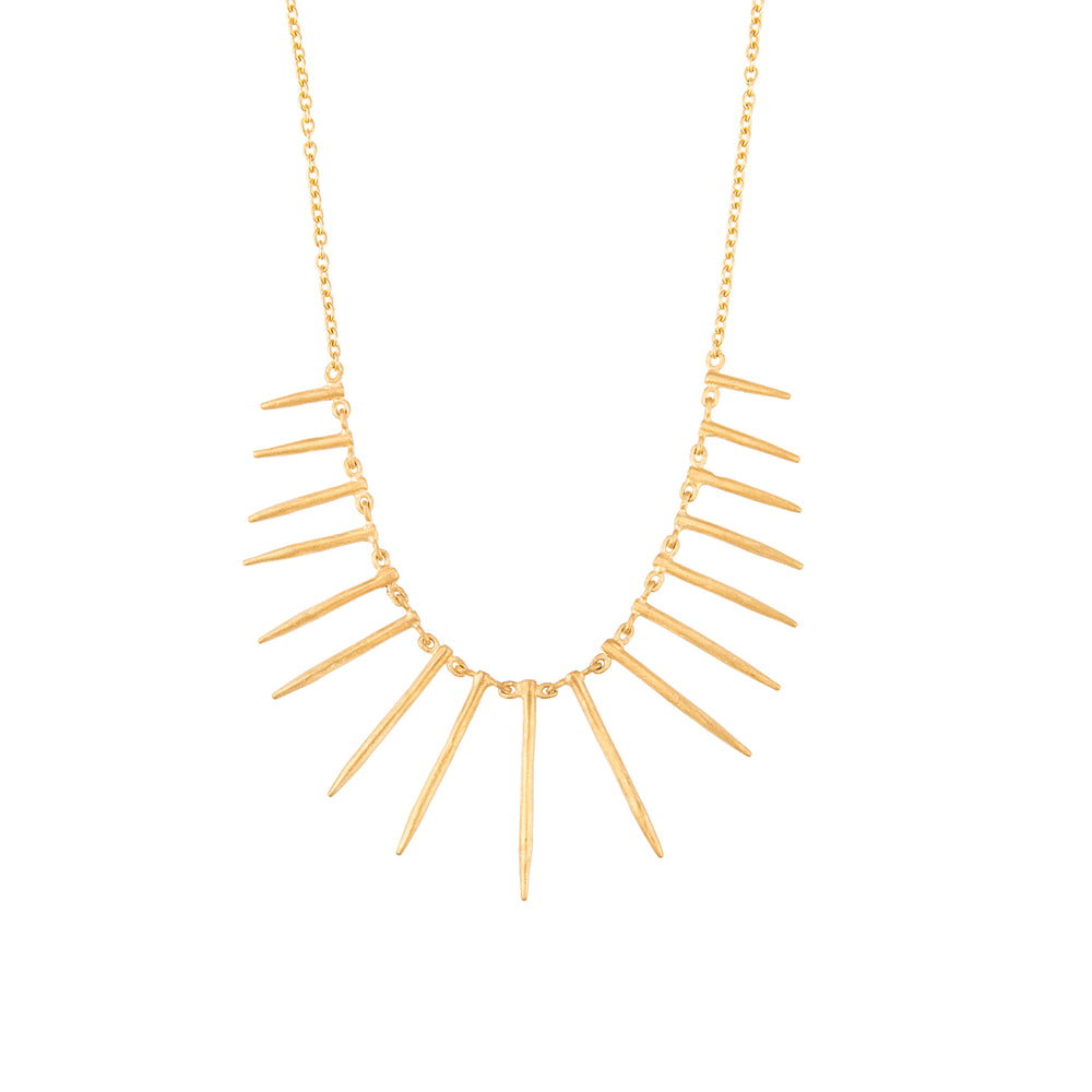 24K GOLD 17-BAR REYNA NECKLACE