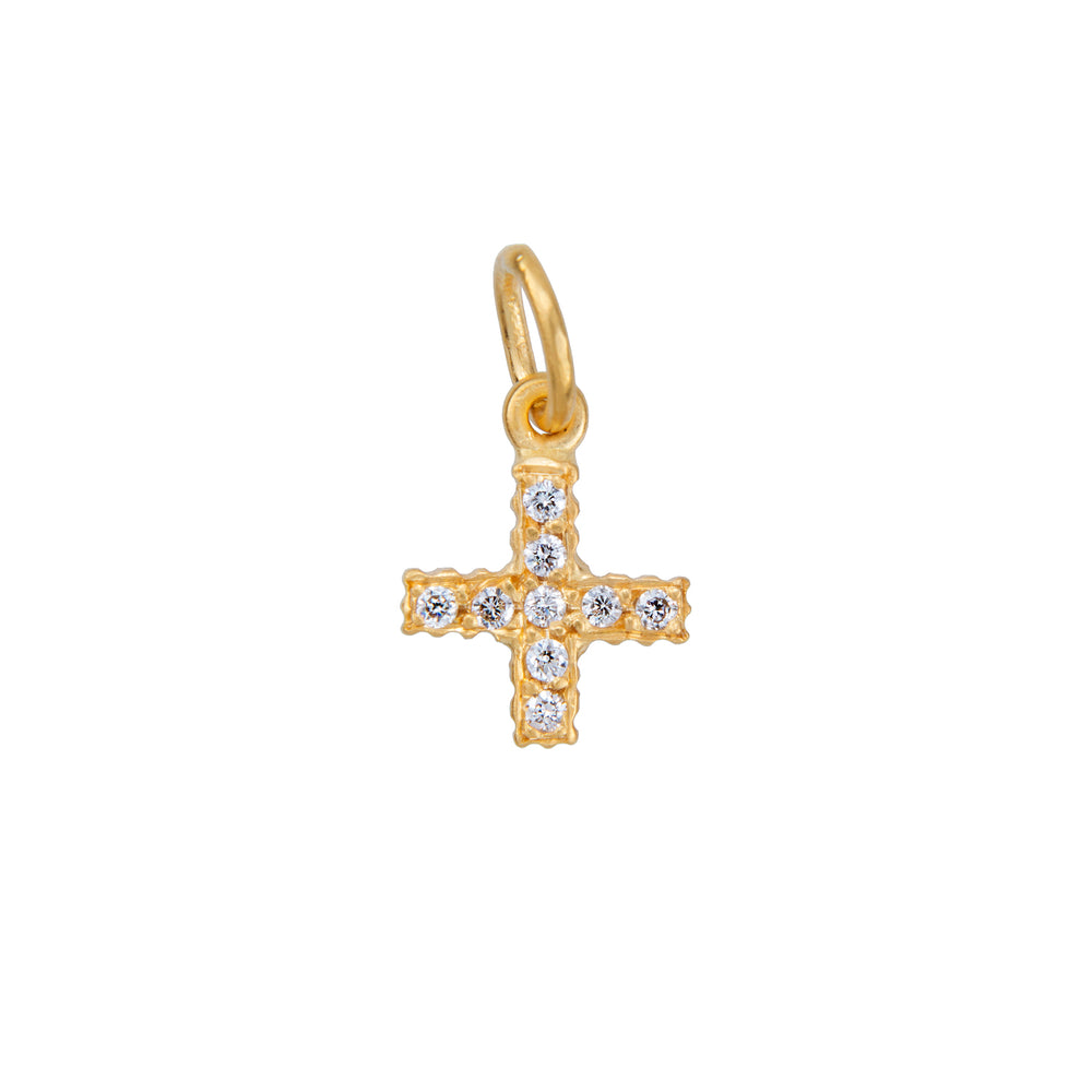 18K GOLD DIAMOND POSITIVE SIGN PENDANT