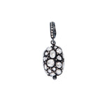 OXIDIZED GILVER ROSE CUT DIAMOND HELEN PENDANT