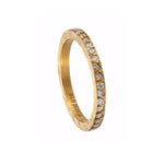 24K GOLD PAVÉ WHITE DIAMOND BAND