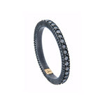 OXIDIZED GILVER BLACK DIAMOND BAND