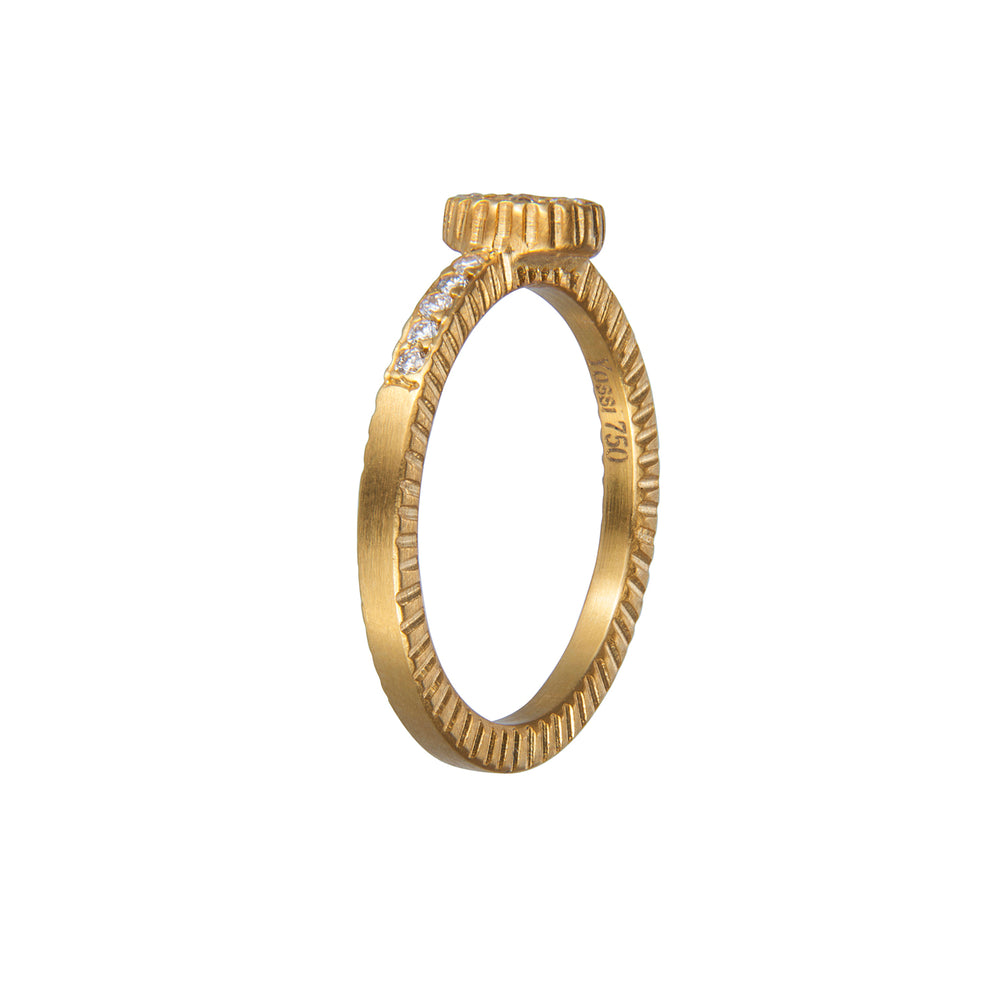 18K GOLD DIAMOND LILAH STACK RING