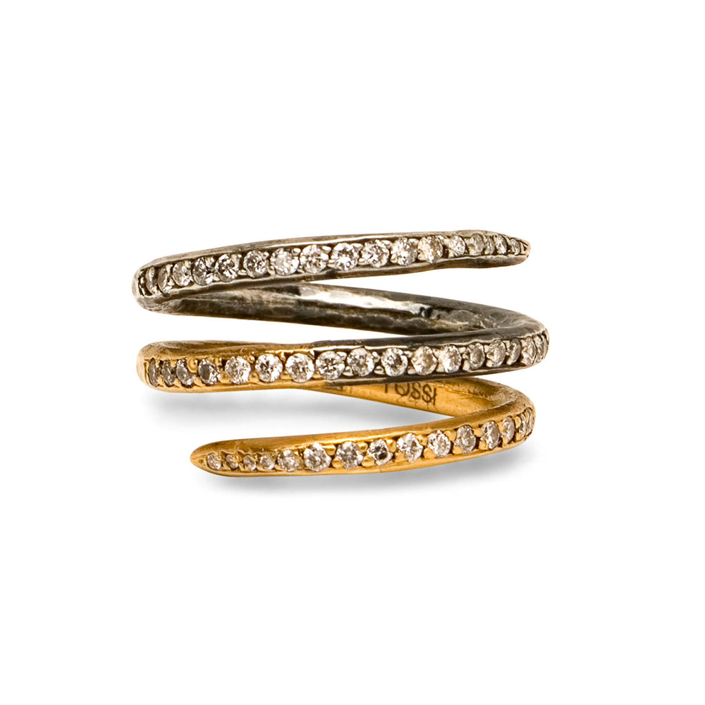 LILAH TRIPLE LOOPS DIAMOND RING