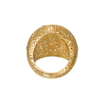18K GOLD DIAMOND LACE DOME RING