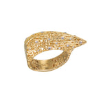 18K GOLD DIAMOND LACE RING