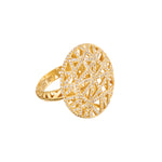 18 GOLD DIAMOND ROUND LACE RING