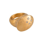 24K GOLD DIAMOND RACHEL RING