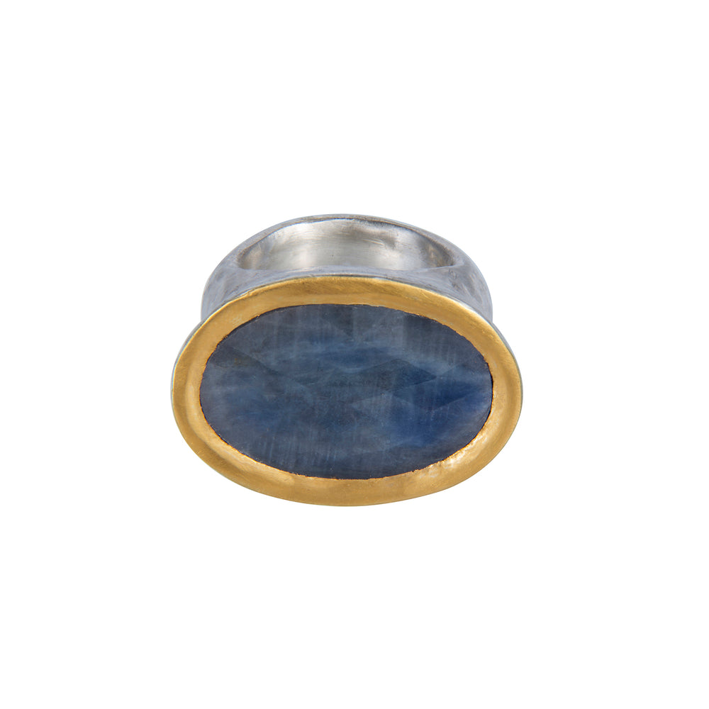 24K GOLD & STERLING SILVER SAPPHIRE ROXANNE RING
