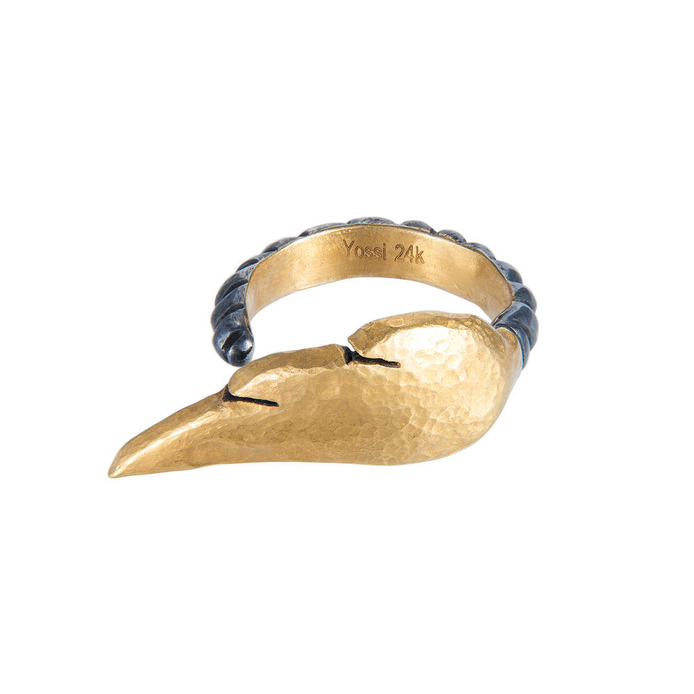 24K GOLD MICA WING RING