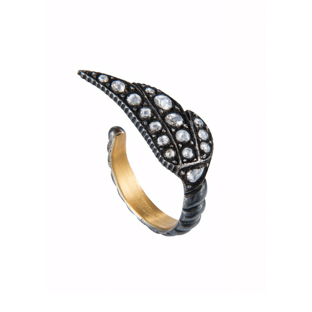 24K GOLD & DIAMOND SARA WING RING