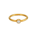 18K GOLD S ROUND DIAMOND JANE STACK RING