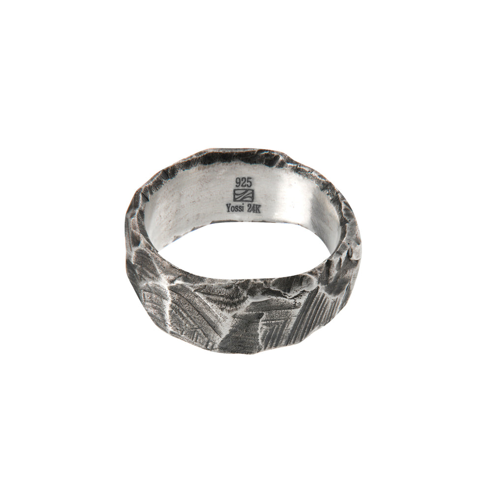 OXIDIZED STERLING SILVER PUNTA GALERA LARGE PACHA RING