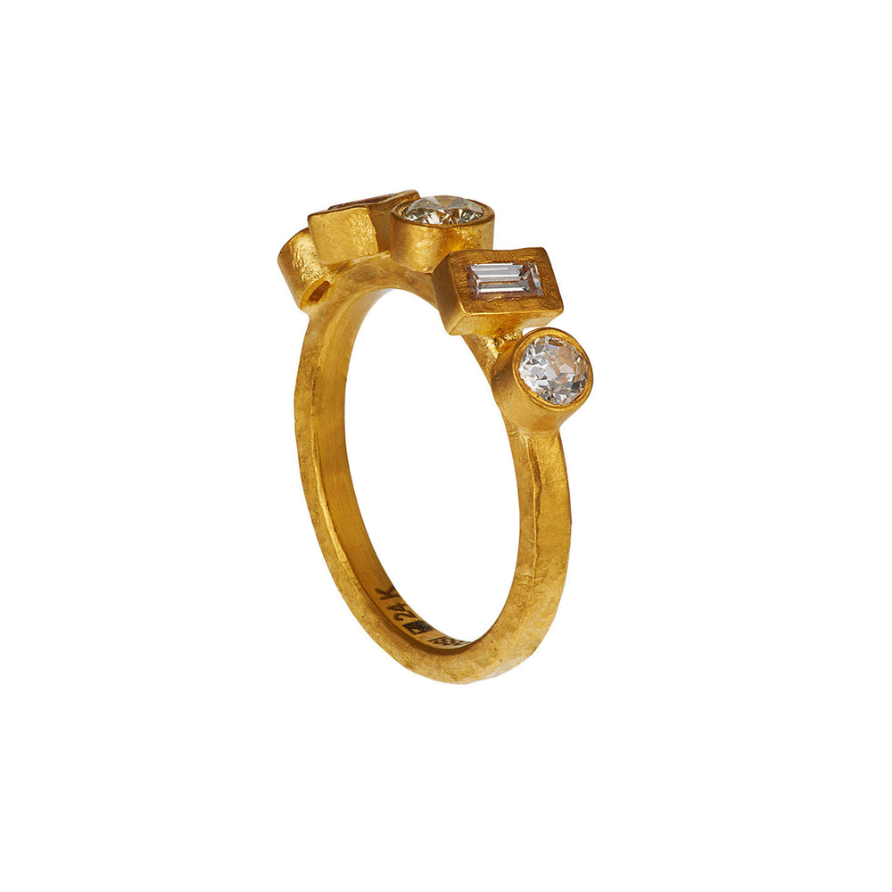 24K GOLD DIAMOND REYNA RING