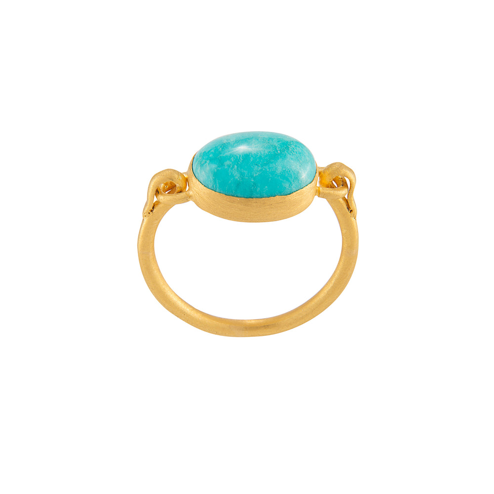 24K GOLD TURQUOISE REYNA RING
