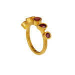 24K GOLD ORANGE MIX GEMSTONE REYNA RING