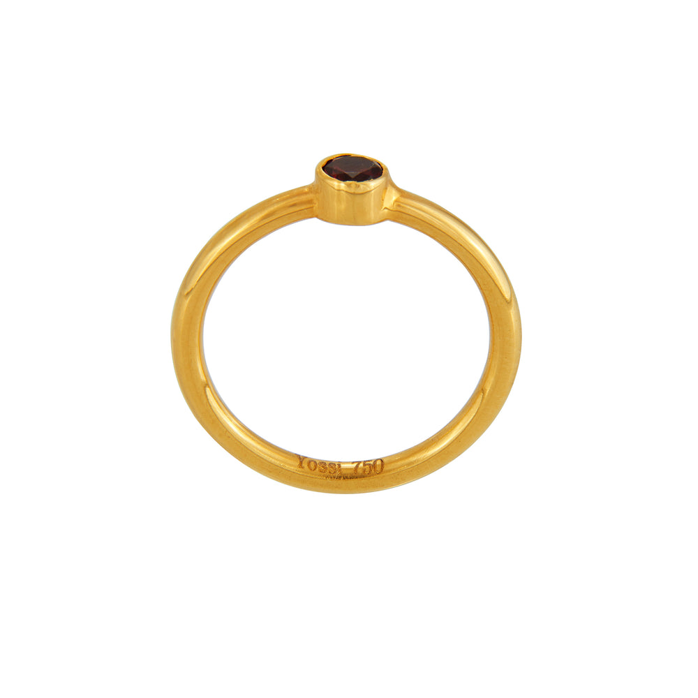 18K GOLD GARNET JANE STACK RING